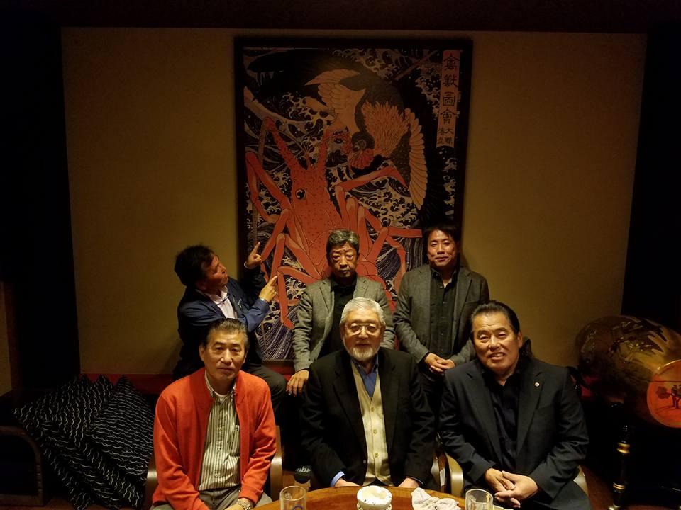 柳憲ちゃんの所で1年に1度「CASIOワールドオープン」に訪れる小牧相談役の歓迎会_c0186691_14182751.jpg