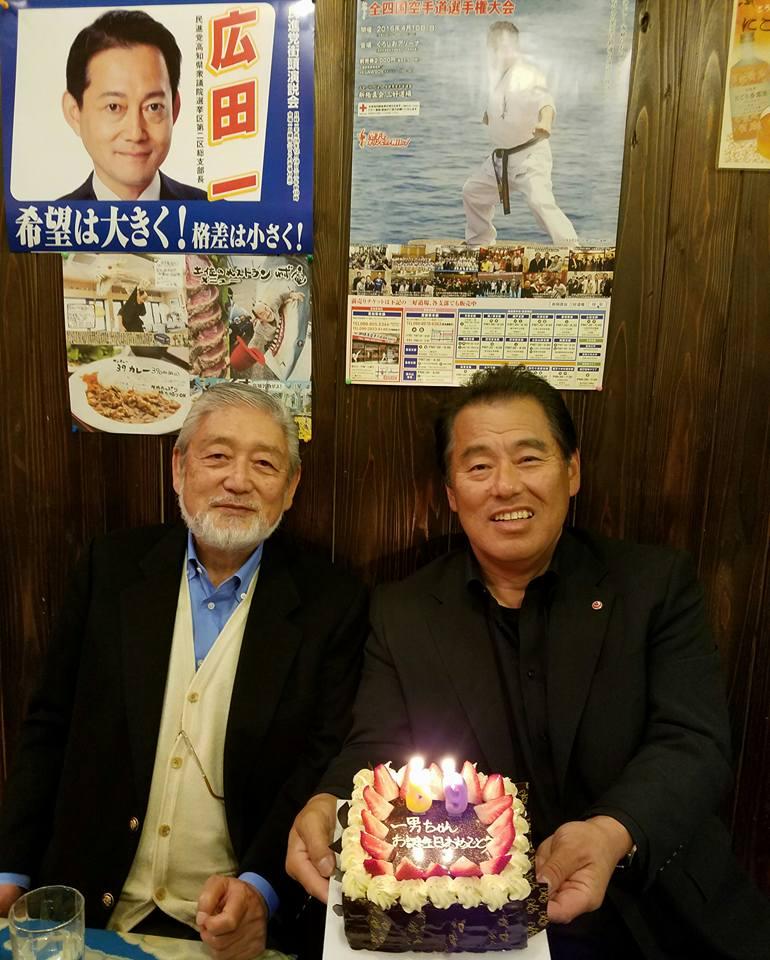 柳憲ちゃんの所で1年に1度「CASIOワールドオープン」に訪れる小牧相談役の歓迎会_c0186691_14191514.jpg