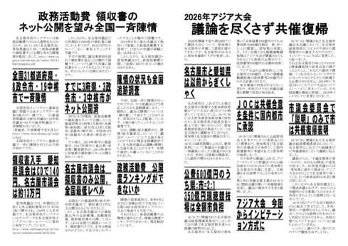 名古屋市民オンブズマンタイアップ NEWS 189号発行 _d0011701_1751136.jpg