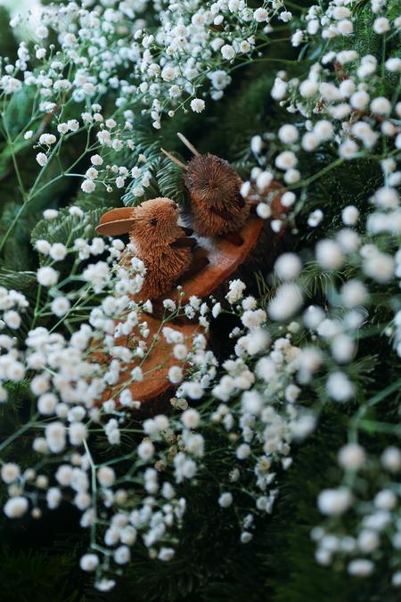 秋の装花 かすみそうの花畑の中の小さな教会とチュール高砂 ザ・ハウス白金様へ _a0042928_22134611.jpg