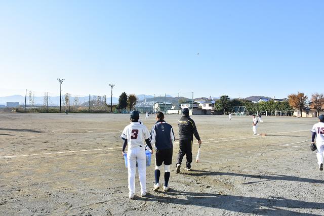 岸城中群馬遠征 試合前ノック_b0249247_22422234.jpg