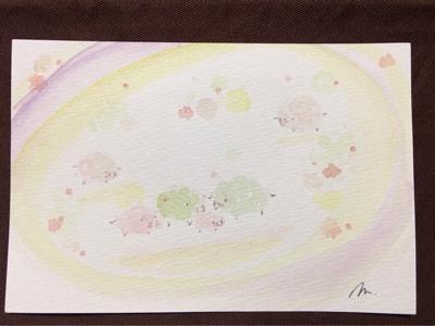 新月前のインスピアート no.1   in  モカ ***_e0290872_19391114.jpg