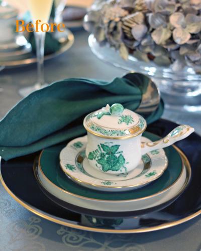 ヘレンドのアンティークカップにクリスマスの前菜を_f0357387_03155142.jpg