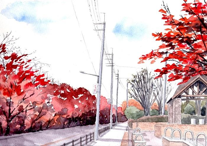阪大グランド横の桜並木_d0342020_19361680.jpg