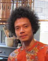 """インドネシアの""""トガー""""さん@第15回アーティスト・イン・レジデンスの成果展 福岡アジア美術館_a0054926_1183212.jpg"""
