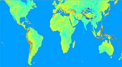 『地球の重力を計測したマップ』/ 日本は以外にも・・・ _b0003330_23551076.jpg
