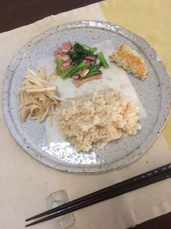 小松菜とベーコンのソテー_d0235108_12504599.jpg