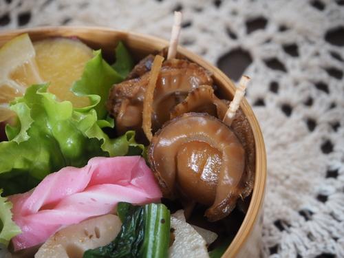 ベビーホタテの生姜醤油煮弁当_c0270834_844230.jpg