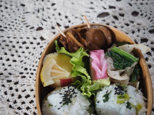 ベビーホタテの生姜醤油煮弁当_c0270834_853862.jpg