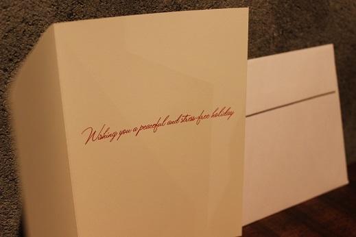 ハワイから届いたクリスマスカード & SLOW ITEM_f0191324_08330555.jpg