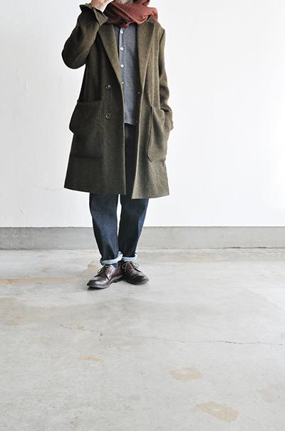 RICEMAN  Chesterfield Coat (Green Mix)_d0120442_13532465.jpg