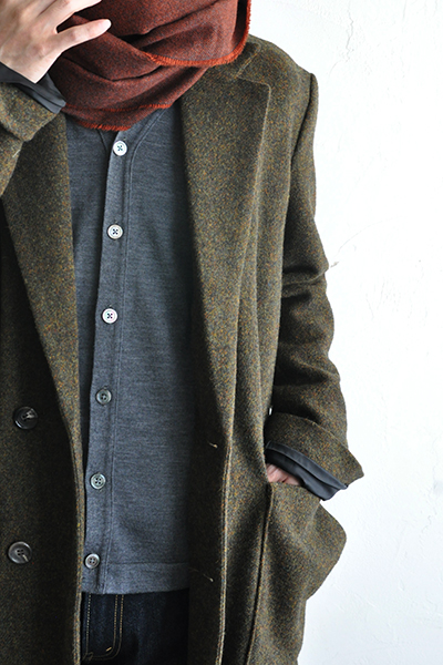 RICEMAN  Chesterfield Coat (Green Mix)_d0120442_13532787.jpg