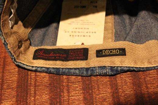 """ANACHRONORM \""""BEAT INITIALCAPS by DECHO\"""" CHINO & DENIM CAP ご紹介 _f0191324_08445100.jpg"""