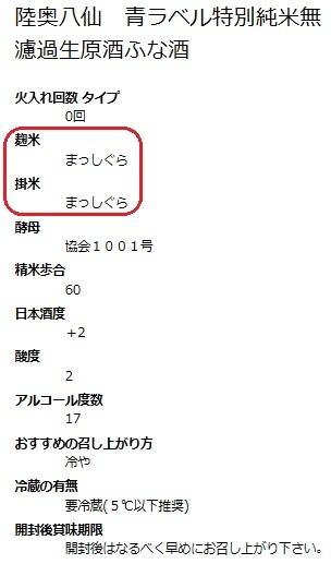 先輩恵比寿氏より台どこロックバー開店祝いに陸奥八仙を頂く_d0061678_14054624.jpg