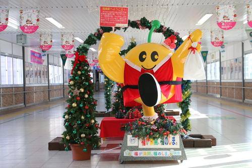 福島駅西口改札口から東口改札口への通路のイルミネーション_c0075701_1745384.jpg