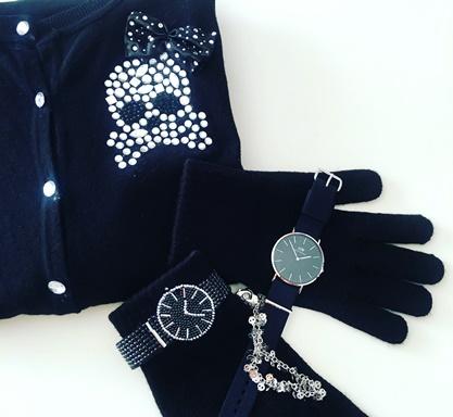 ダニエルウエリントンンの時計とメタルビーズ_b0048834_14313316.jpg