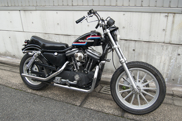FOR SALE!! HARLEY-DAVIDSON XL883R コンプリートカスタム_e0182444_19185038.jpg
