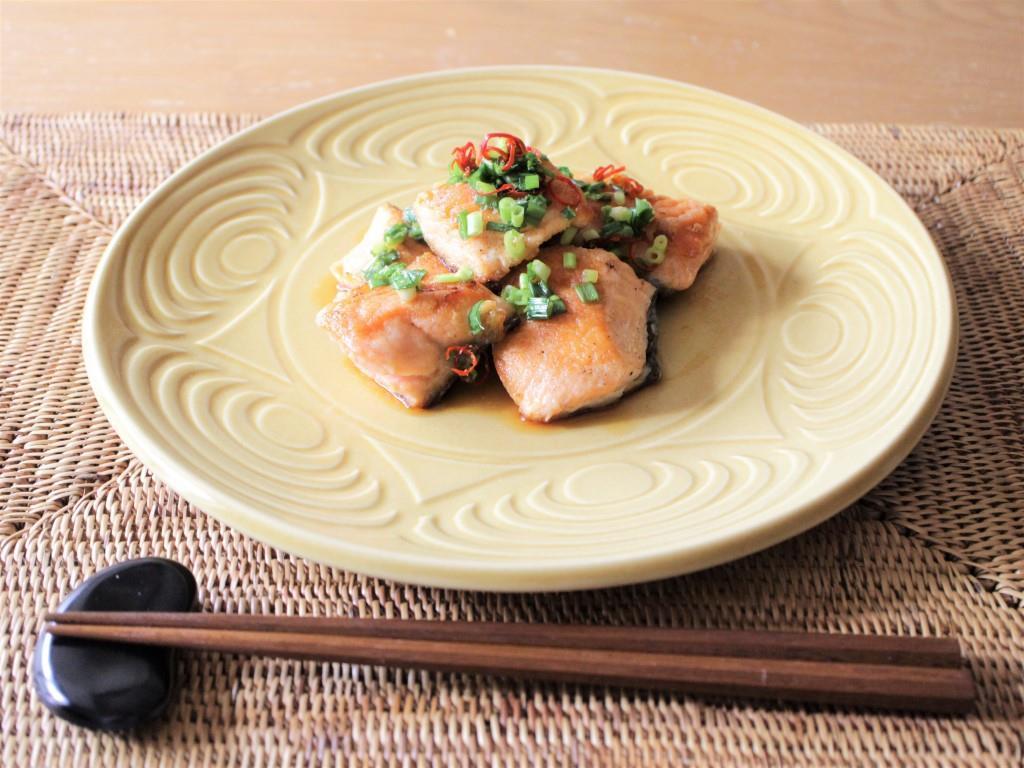 鮭の香味ソースがけ_f0220354_13500091.jpg