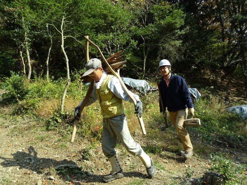 クヌギ谷山道作り第3日目・・・孝子の森  by  (TATE-misaki)_c0108460_21400491.jpg
