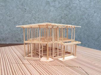 稲田堤の家の軸組模型_c0195909_106592.jpg