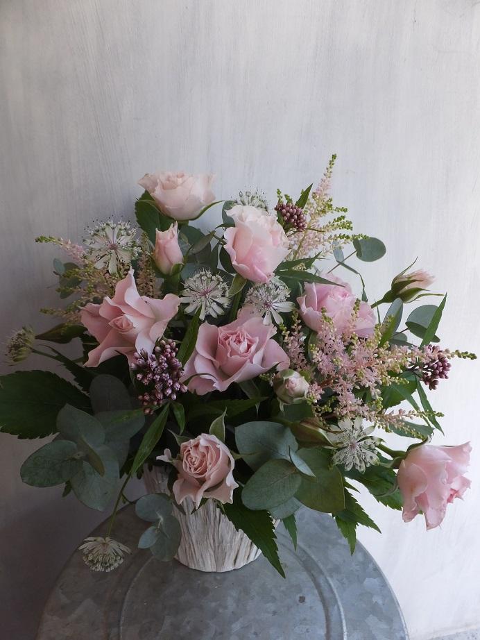 オークリーフ(初冬のバラのアレンジメント)_f0049672_1842837.jpg