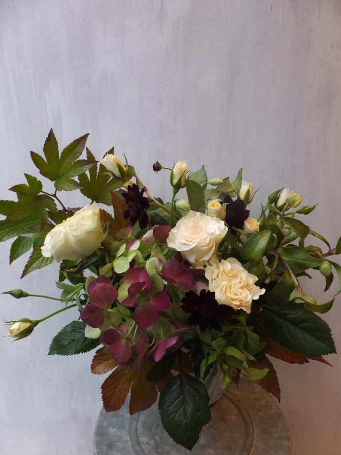 オークリーフ(初冬のバラのアレンジメント)_f0049672_18492012.jpg