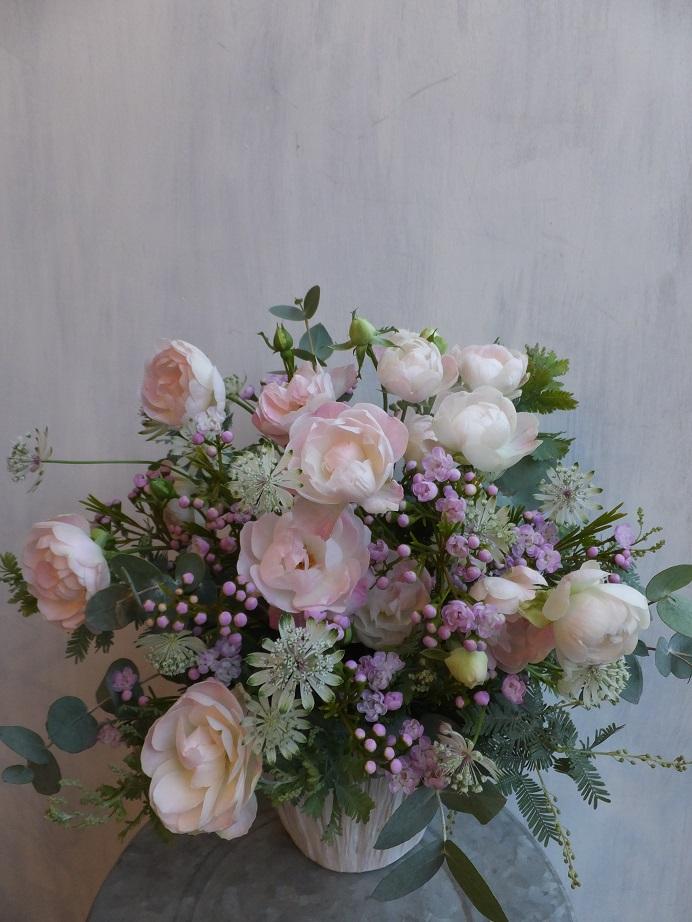 オークリーフ(初冬のバラのアレンジメント)_f0049672_18504066.jpg