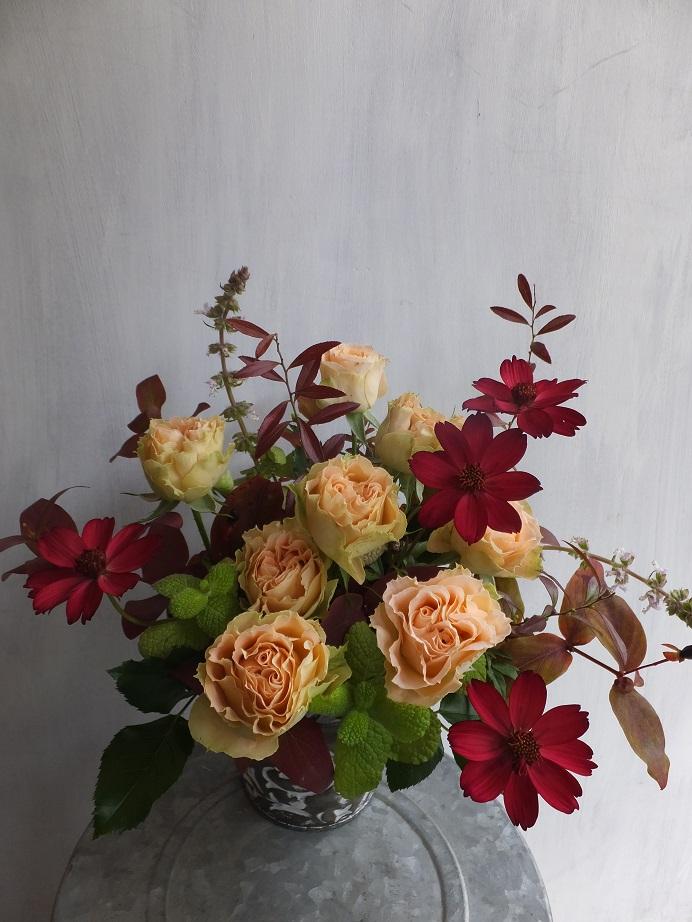 オークリーフ(初冬のバラのアレンジメント)_f0049672_18544965.jpg