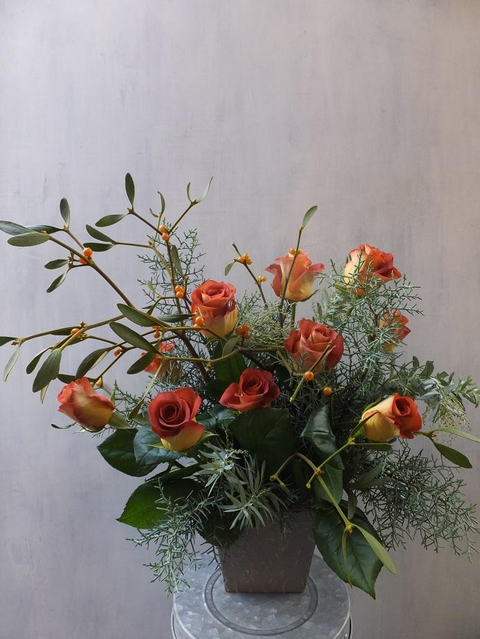 オークリーフ(初冬のバラのアレンジメント)_f0049672_18564230.jpg