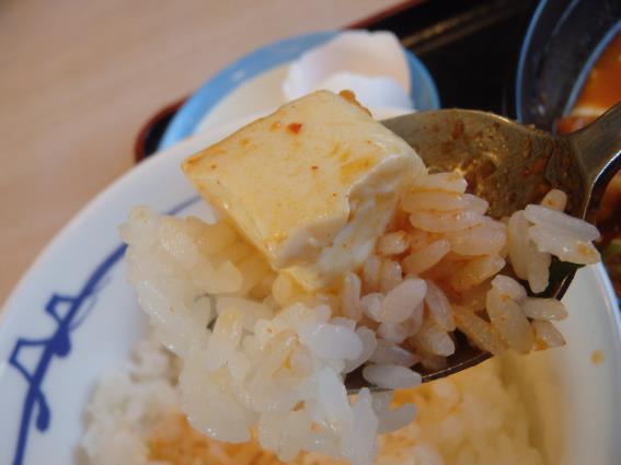 松屋の豆腐キムチチゲ膳   門真店_c0118393_125597.jpg