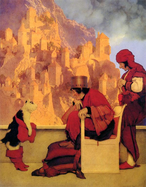マックスフィールド・パリッシュ画の「長靴をはいた猫」_c0084183_1957788.jpg