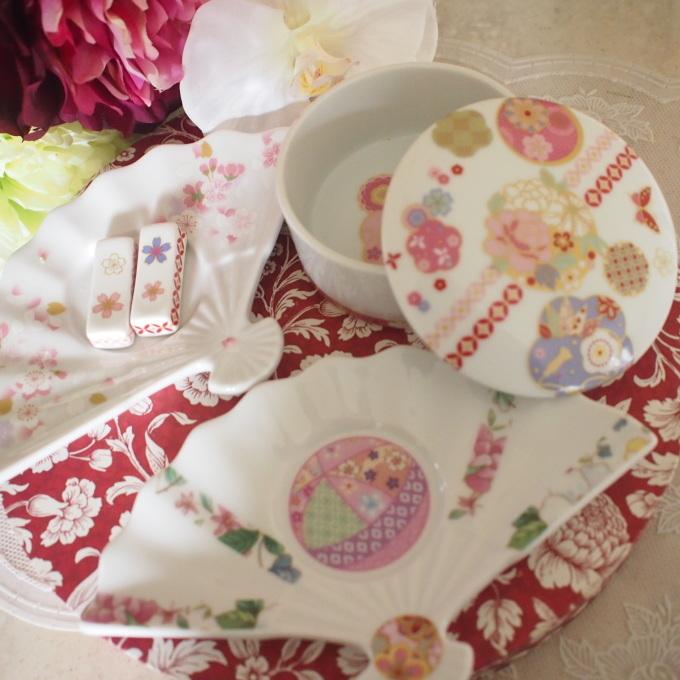 新春準備 扇皿とお箸置きセット_a0230197_08105750.jpg