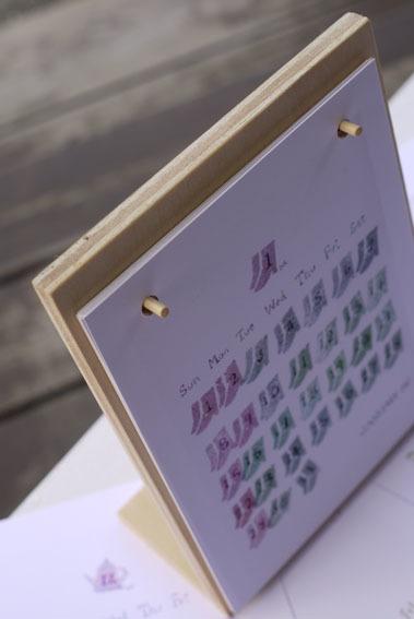 ポテトスタンプの卓上カレンダー_c0334574_15105682.jpg