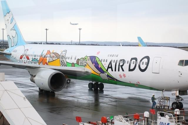 藤田八束の飛行機写真・鉄道写真@札幌駅でオホーツクに逢いました・・・札幌空港の飛行機も可愛く変身_d0181492_16173787.jpg