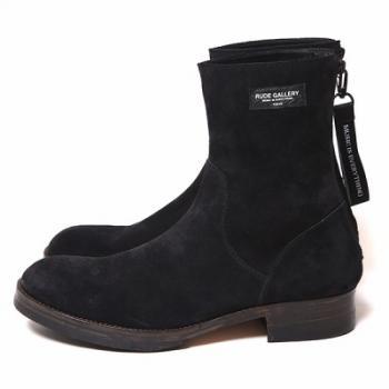 BACK ZIP BOOTS/BLK-SUEDE 再販売_d0100143_18401085.jpg