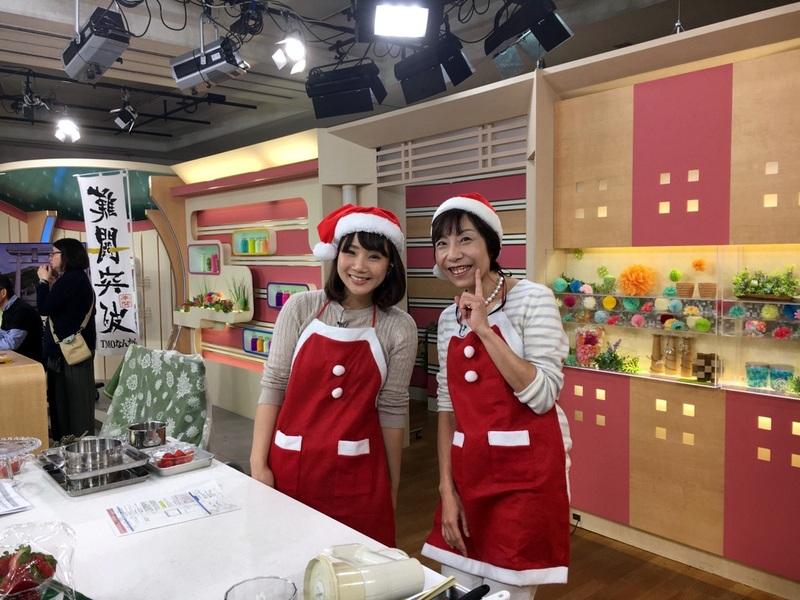 はっけんテレビで苺アイス クリスマスケーキをご紹介しました。_d0210450_1702578.jpg