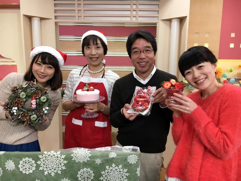はっけんテレビで苺アイス クリスマスケーキをご紹介しました。_d0210450_1742323.jpg