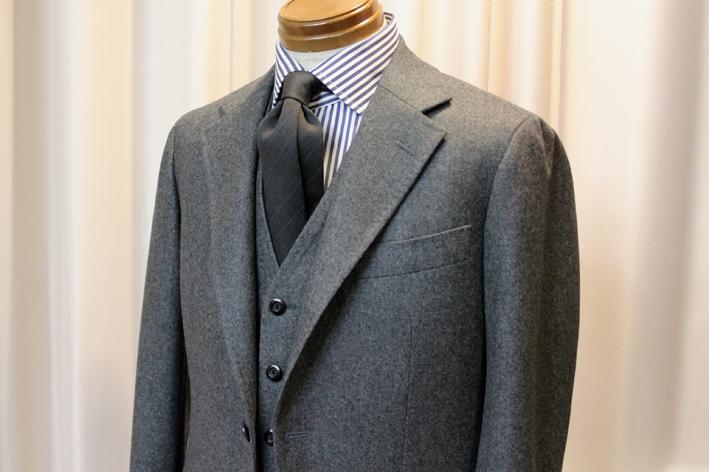グレーフランネルのジャケット&ベスト_b0081010_12081791.jpg
