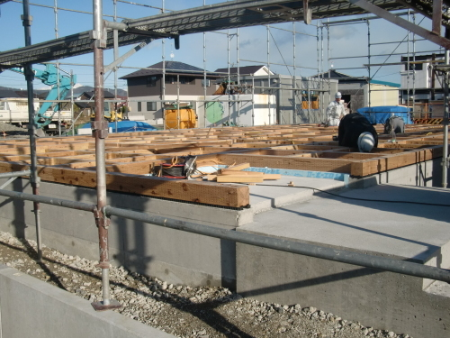 石巻市伊勢町  新築工事進捗状況_e0357165_18412358.jpg