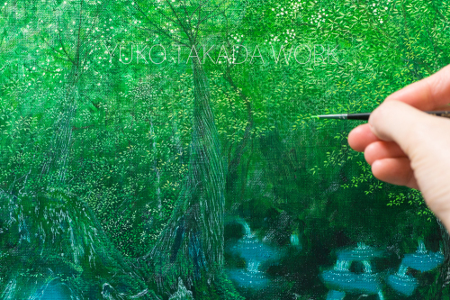 絵本「水の森」のラフの続き、描いております!_b0240382_21030289.jpg