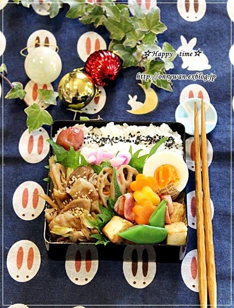 肉野菜炒め弁当とゆめちからで湯種食パン・沼サン♪_f0348032_17580154.jpg