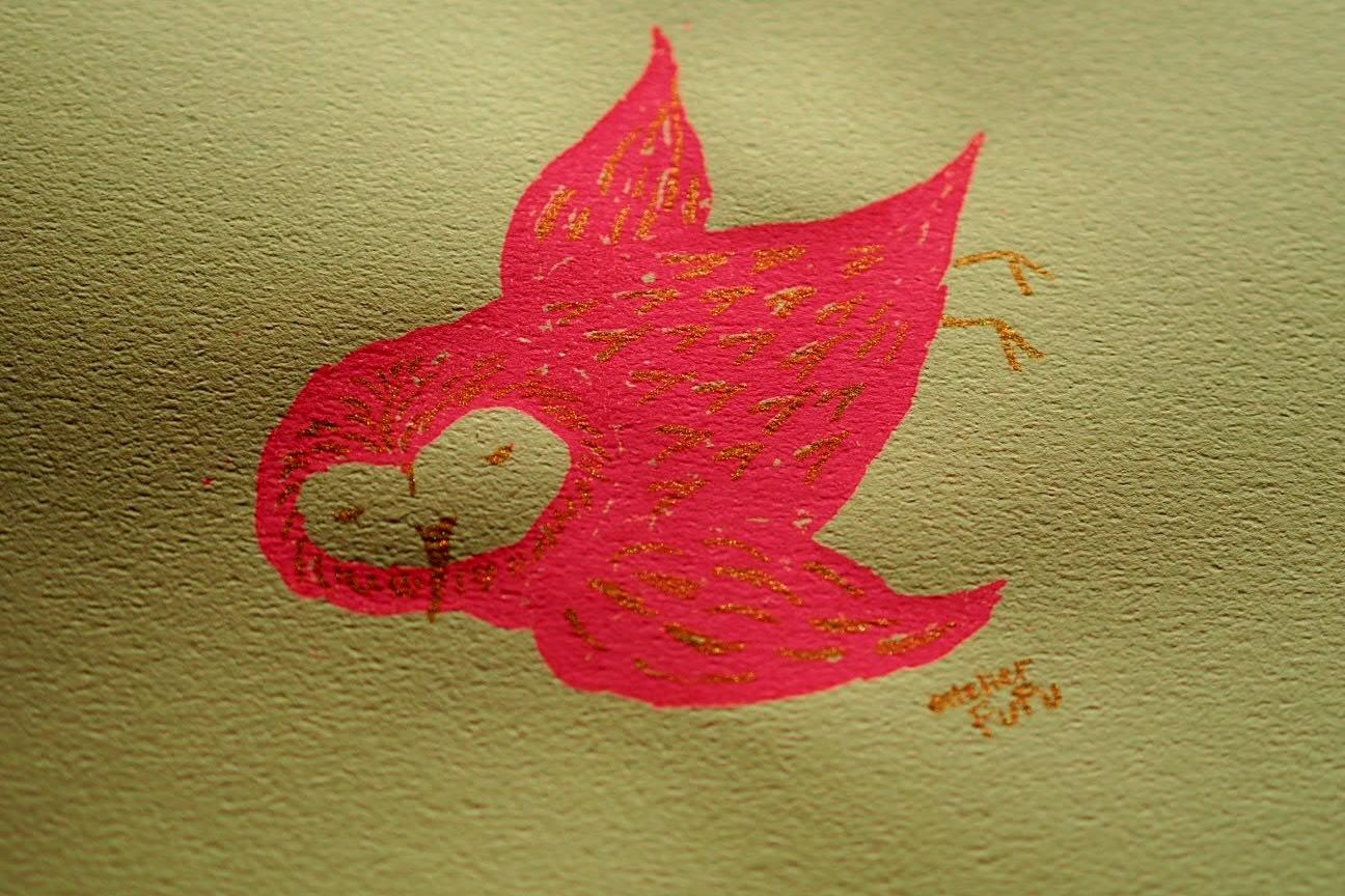 羽ばたく、蛍光ピンク。_d0341450_21140817.jpg