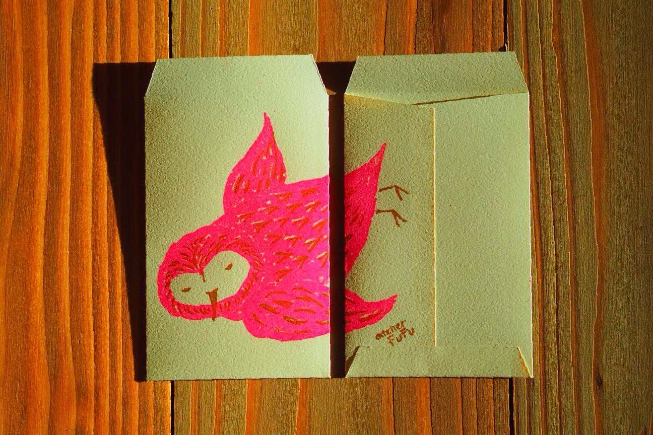 羽ばたく、蛍光ピンク。_d0341450_21340914.jpg