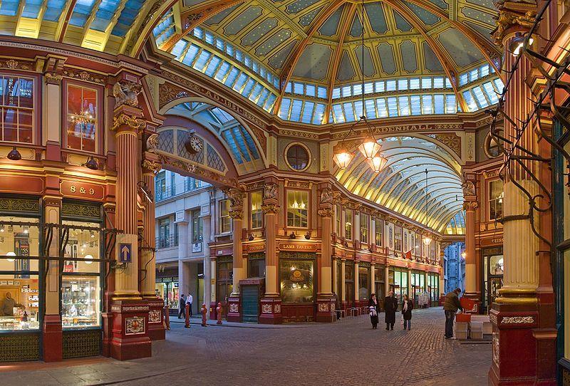 """ロンドン4  美しいアーケード \""""レドンホール・マーケット\""""_a0092659_22394106.jpg"""