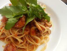 12/17本日パスタ:挽肉とサルシッチャのトマトソース・スパゲティ_a0116684_11255766.jpg