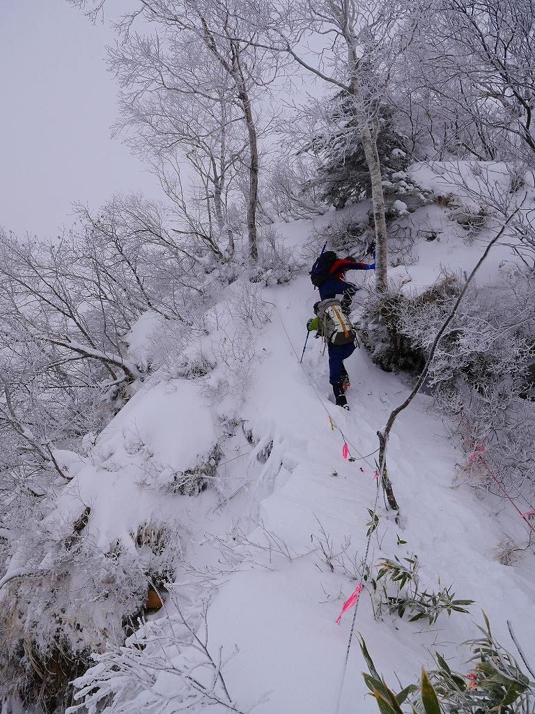 風不死岳北尾根、12月14日_f0138096_11555684.jpg