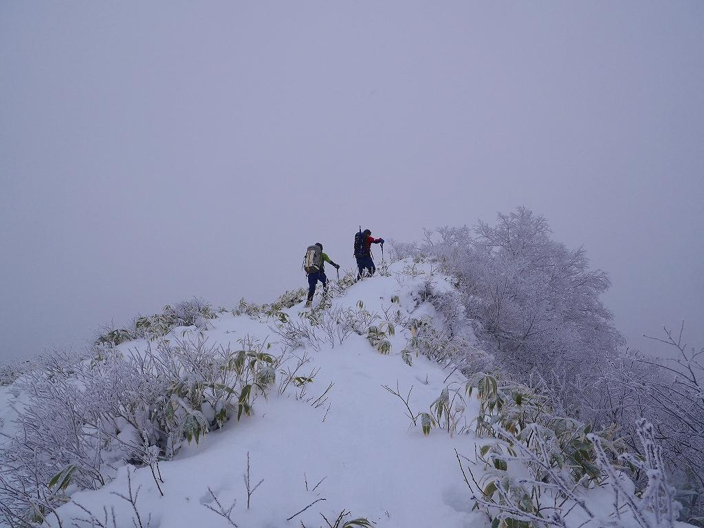 風不死岳北尾根、12月14日_f0138096_11561294.jpg
