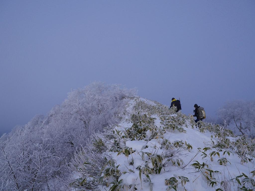 風不死岳北尾根、12月14日_f0138096_11564584.jpg