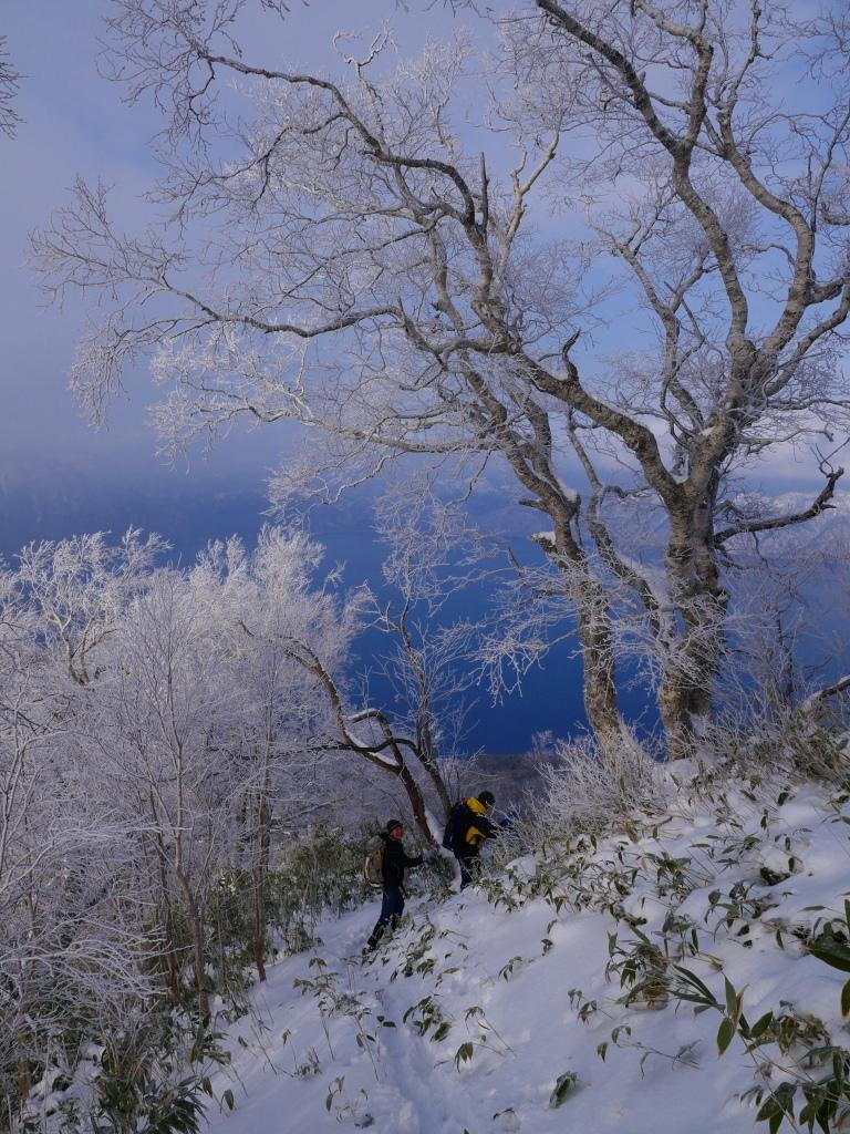 風不死岳北尾根、12月14日_f0138096_11571949.jpg