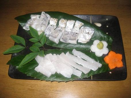 ★太刀魚の刺身・ソテー・塩焼き★_e0147297_7595249.jpg